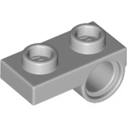 LEGO 6089147 PLATE 1x2 W. HORIZONTAL HOLE Ø4,85 REV. - Medium Stone Grey