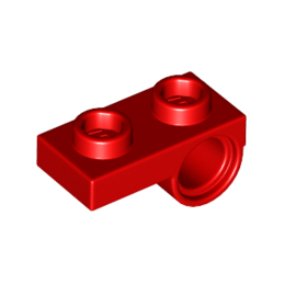 LEGO 6109459 PLATE 1x2 W. HORIZONTAL HOLE Ø4,85 REV. - ROUGE