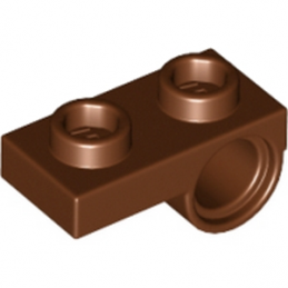 LEGO 6192310 PLATE 1x2 W. HORIZONTAL HOLE Ø4,85 REV. - Reddish Brown