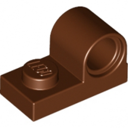 LEGO 6138664 PLATE 1X2 W. HOR. HOLE Ø 4.8 - REDDISH BROWN