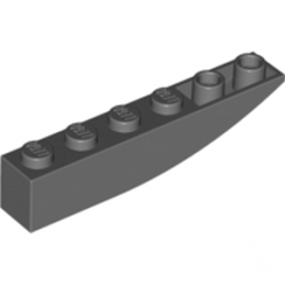 LEGO 4210779 BRICK 1X6 W BOW, REV. - Dark Stone Grey