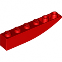 LEGO 4160406 BRICK 1X6 W BOW, REV. - ROUGE