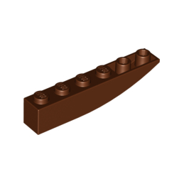 LEGO 6175581 BRICK 1X6 W BOW, REV. -  Reddish Brown
