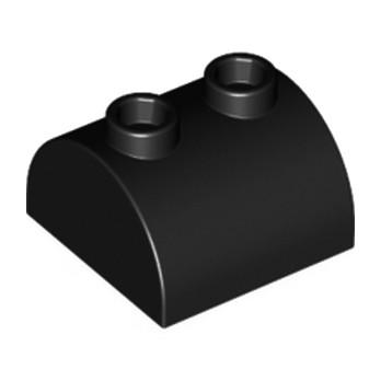 LEGO 4200023 - BRICK 2X2 W. BOW AND KNOBS - NOIR lego-4200023-brique-2x2-noir ici :