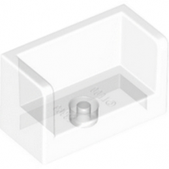 LEGO 6248909 WALL ELEMENT 1X2X1- Transparent