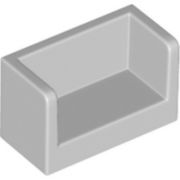 LEGO 6138696 - Cloisons 1X2X1- Medium Stone Gray