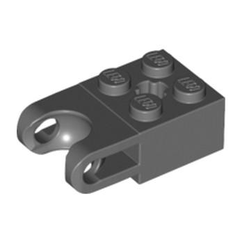 LEGO 4619760 BRICK 2X2 W. CUP FOR BALL - Dark Stone Grey