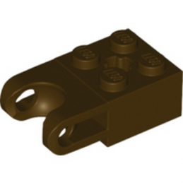 LEGO  6046942 BRICK 2X2 W. CUP FOR BALL - Dark Brown