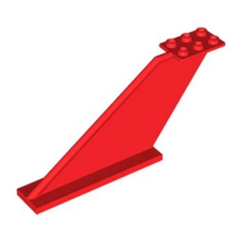 LEGO 6146907 DERIVE / GOUVERNAIL  2X12X5 - ROUGE