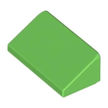 LEGO 6138510 TUILE 1 X 2 X 2/3 - BRIGHT GREEN