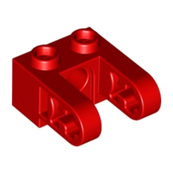 LEGO 6162326 2X1 ST.Ø4.9 HOLE W. HALF BEAM  - ROUGE