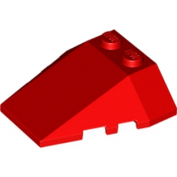 LEGO 6146904 ROOF TILE 4X2/18° W/COR. - ROUGE