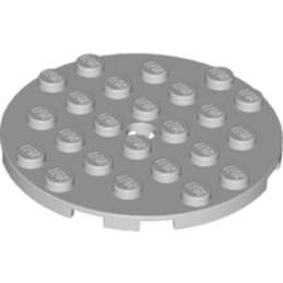 LEGO 6015349 	PLATE 6X6 ROUND WITH TUBE SNAP - Medium Stone Grey lego-6015349-plate-ronde-6x6-medium-stone-grey ici :