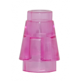 LEGO 4589 CONE 1X1 - ROSE TRANSPARENT