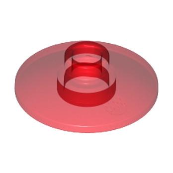 LEGO 474041 SATELLITE DISH Ø16 - Rouge Transparent
