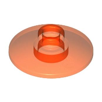 LEGO 474047 SATELLITE DISH Ø16 - Orange Fluo Transparent
