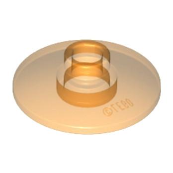 LEGO 6109454  SATELLITE DISH Ø16 - Orange Transparent