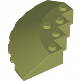LEGO 6016465 	CIRCLE 90G 6X6 ROOF TILE - Olive Green