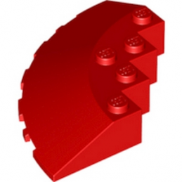 LEGO 4649885 	CIRCLE 90G 6X6 ROOF TILE - ROUGE