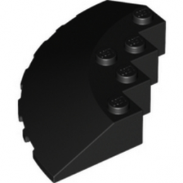 LEGO 6005932 CIRCLE 90G 6X6 ROOF TILE - NOIR