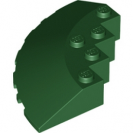 LEGO 6080436 CIRCLE 90G 6X6 ROOF TILE - EARTH GREEN