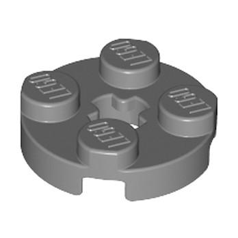 LEGO 4211042 PLATE 2X2 ROND - DARK STONE GREY