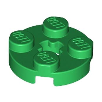 LEGO 403228PLATE 2X2 ROND - Dark Green