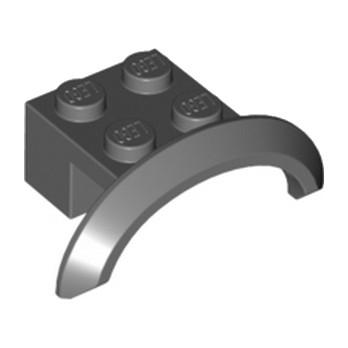 LEGO  4646522 GARDE BOUE 2X4X1- Dark Stone Grey lego-6170503-garde-boue-2x4x1-dark-stone-grey ici :
