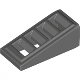 LEGO 4521185 ROOF TILE W. LATTICE 1x2x2/3 - Dark Stone Grey