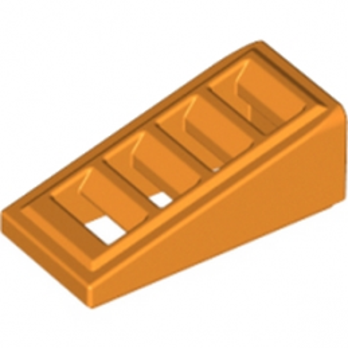 LEGO 6035764 ROOF TILE W. LATTICE 1x2x2/3 - ORANGE
