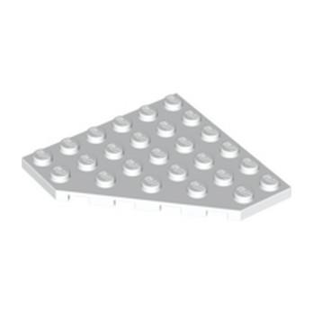LEGO 6107667 CORNER PLATE 6X6X45° - BLANC