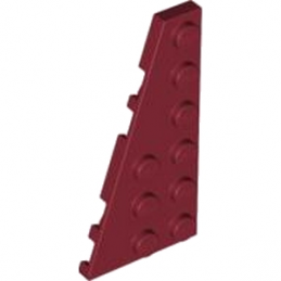 LEGO 4528043 LEFT PLATE 3X6 W ANGLE - New Dark Red