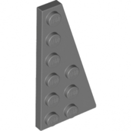 LEGO 4290150 	RIGHT PLATE 3X6 W. ANGLE - Dark Stone Grey
