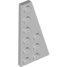 LEGO 4282786 	RIGHT PLATE 3X6 W. ANGLE - Medium Stone Grey