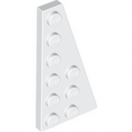 LEGO 4287707 	RIGHT PLATE 3X6 W. ANGLE - BLANC lego-4287707-right-plate-3x6-w-angle-blanc ici :