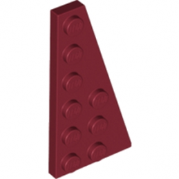 LEGO 4528041 RIGHT PLATE 3X6 W. ANGLE - New Dark Red