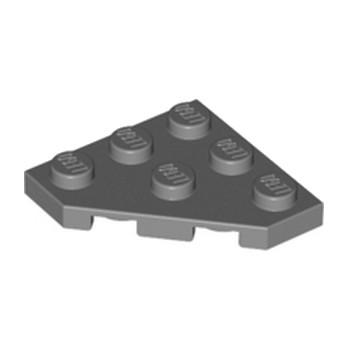 LEGO 4210897 PLATE 45 DEG. 3X3 - DARK STONE GREY7