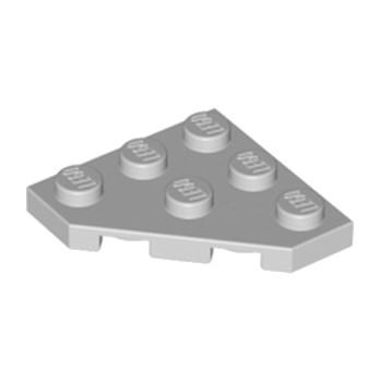 LEGO 4211361 CORNER PLATE 45 DEG. 3X3 - Medium Stone Grey