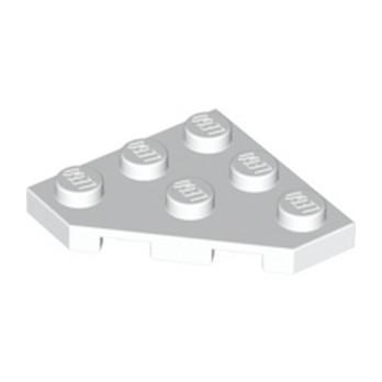 LEGO 245001 PLATE 45 DEG. 3X3 - BLANC