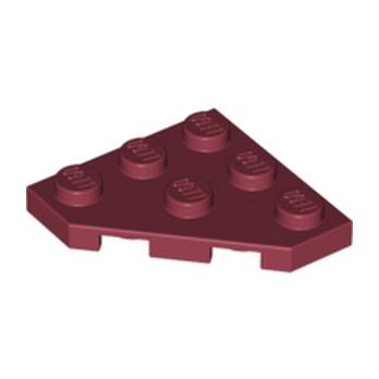 LEGO 4290008 CORNER PLATE 45 DEG. 3X3 - New Dark Red