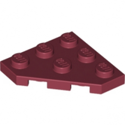 LEGO 4290008 PLATE 45 DEG. 3X3 - NEW DARK RED