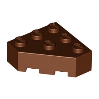LEGO 4159550 CORNER BRICK 45 DEG. 3X3 - Reddish Brown lego-6096217-brique-d-angle-45-deg-3x3-reddish-brown ici :