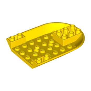 LEGO 6181871 - BOTTOM 6X8 W. DOUBLE BOW INVERTED  - JAUNE