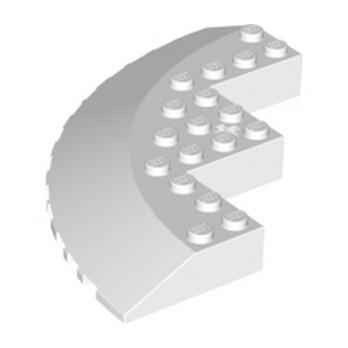 LEGO 6010451 CIRCLE 90D 10X10, WRY 18D - BLANC