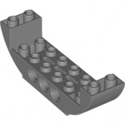 LEGO 6032175 BOW BOTTOM 2X8X2 Ø4.85  - DARK STONE GREY