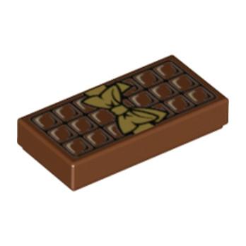 LEGO 6139435 FLAT TILE 1X2 - CHOCOLATE