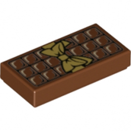 LEGO 6139435 - Plate Lisse 1x2 - Tablette Chocolat