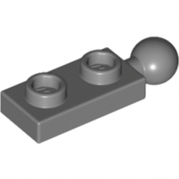 LEGO 6123814 - PLATE 1X2 W/5.9 BALL END - Dark Stone Grey