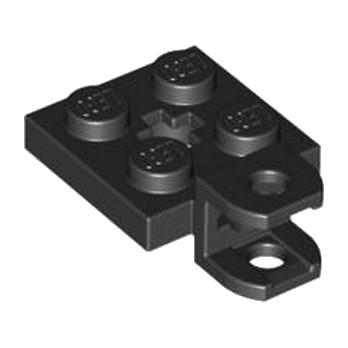 LEGO 4529064 PLATE 2X2 W BALL SOCKET W/CROS - NOIR