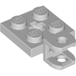 LEGO 4530469 PLATE 2X2 W BALL SOCKET W/CROS - Medium Stone Grey